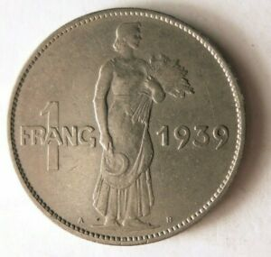 1939-LUXEMBOURG-FRANC-Excellent-Coin-BARGAIN-BIN-172