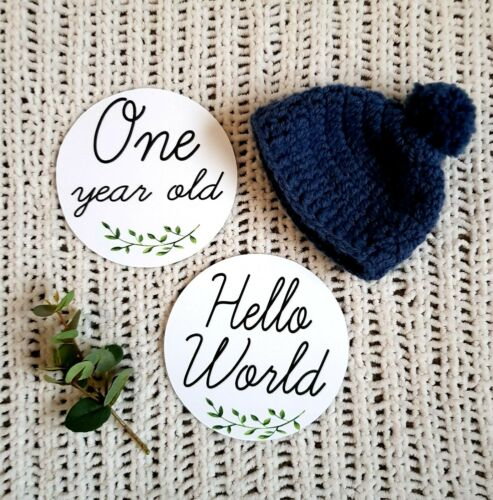 Round Baby Milestone cards x 20 special Moments photo prop