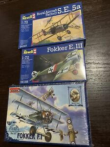 Vintage-1-72-Revell-And-Roden-Model-Plane-Kits-Still-In-Original-Wrapping