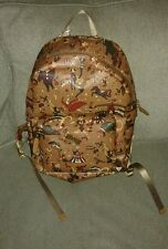 NWT Piero Guidi Magic Circus Backpack (Light Brown, Genuine Leather) Retail $538