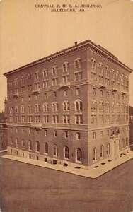 Details about Baltimore Maryland Central YMCA Building Exterior Antique  Postcard K21866
