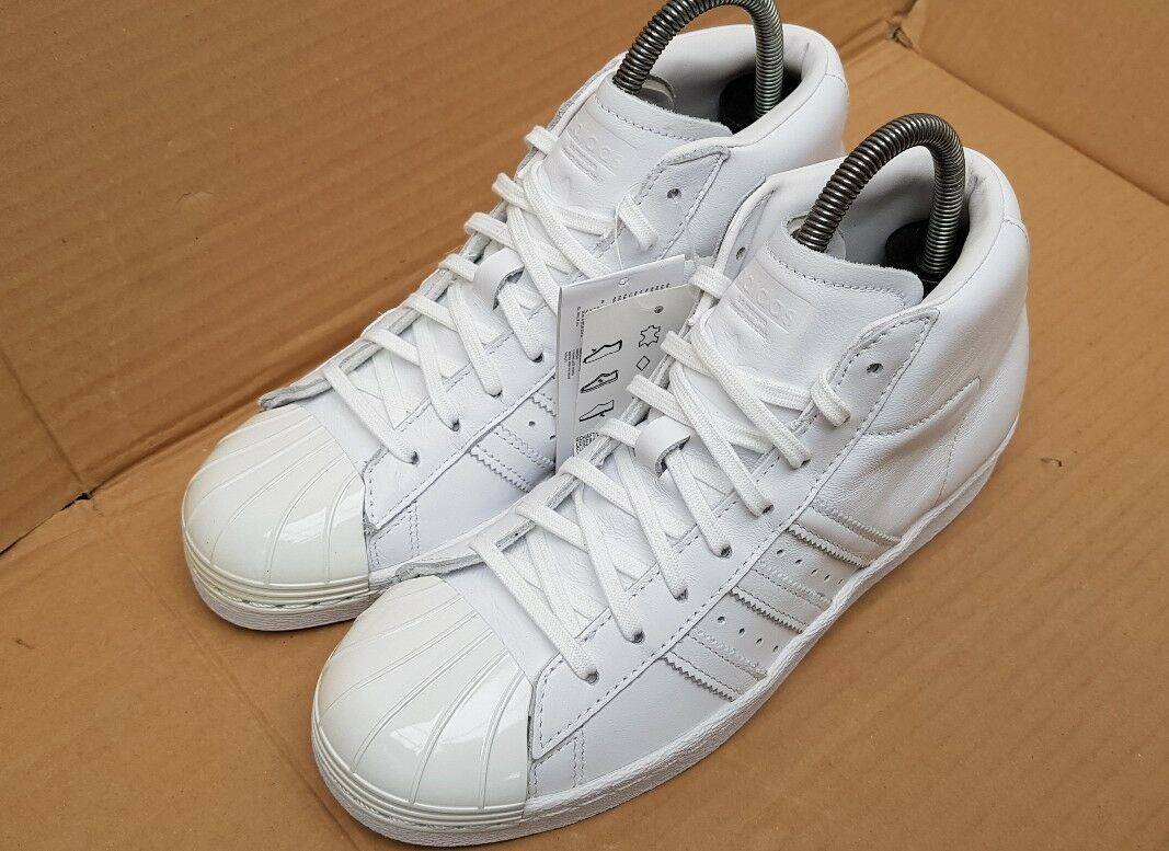 timeless design b19ef 14f59 BNIB ADIDAS Taille SUPERSTAR 80 s PRO MODEL HI HI HI TOP TRAINERS Taille    Pas Cher