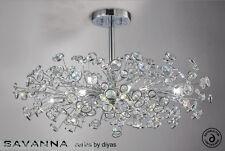 Diyas IL-IL31404 Savanna 8 Light Semi Flush Polished Chrome Finish