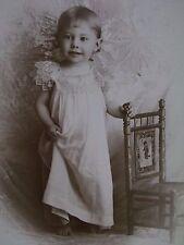 Antique Cabinet Photo-Pretty Girl Lifting Dress,Lace,Unique Chair-Los Angeles,CA