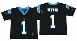 842f18f9 Details about OuterStuff NFL Kids Carolina Panthers Cam Newton #1 Jersey,  Black