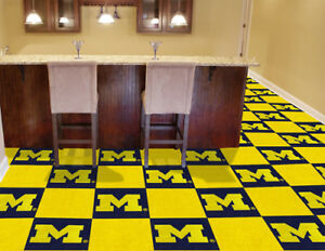 Image Is Loading Fanmats Michigan 18 034 X18 Carpet Tiles