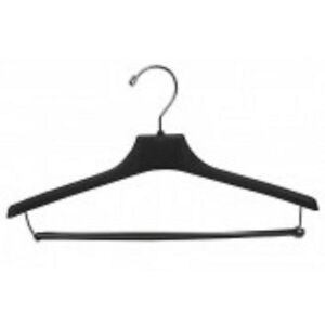 Image Is Loading Only Hangers Pee Size Black Plastic Suit Hanger