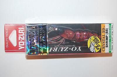 "yo zuri shrimp crystal jerkbait 3d f987-hts 2 3//4/"" 1//4oz holo tiger slow sinking"