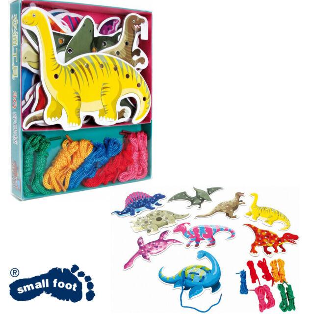😊 Fädel-Dinos Dinosaurier Motorikspielzeug Kinder spielend fördern