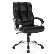 Costway Executive High Back Big Amp Tall Leather Adjustable Computer Desk Chair