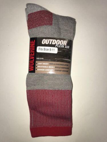 Wolverine Alpaca /& Lambs Wool Outdoor Performance Work Thermal Socks L 2 Pack