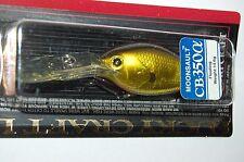 """lucky craft bass crankbait moonsault cb-350 2 1/2"""" 1/2oz aurora gold dives 12'"""