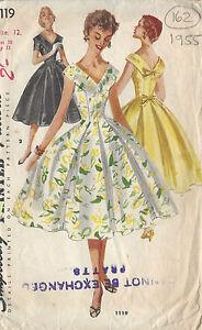 40-46 Schnittmuster Kleid 1955 ; Gr 1094