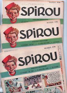 Spirou-Set-Delle-N-560-con-Ee-Collegamento-Rilegatura-28-1949-Tbe