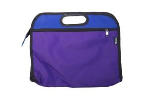 2 Colour Purple Dark Blue School Music Zip Bag Sheet Books Recorder Kids A4