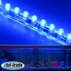 72cm 72 led leiste streifen blau lichtleiste wasserdicht. Black Bedroom Furniture Sets. Home Design Ideas