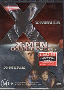 X-MEN-1-5-X-MEN-2-DOUBLE-PACK-DVD-R4-4-DISC-BOX-SET-VG-FREE-POST