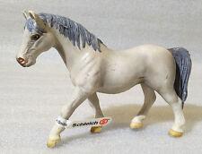 RARE Schleich Pvc ✱ GRAY STALLION HORSE ✱ Brown & Tan 2005 Retired