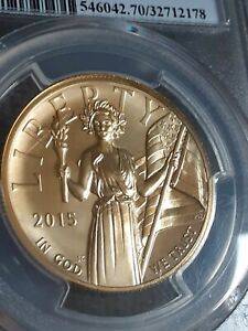 2015-W American Liberty 1 oz Gold $100 High Relief PCGS MS70 First Day Strike