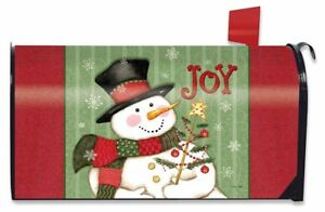 Christmas Mailbox Covers.Details About Snowman Joy Christmas Large Mailbox Cover Primitive Oversized Briarwood Lane