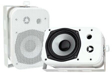 Pyle Home PDWR40W 5.25-Inch Indoor/Outdoor Waterproof Speakers (White)