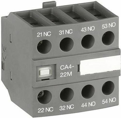 Front Mount Auxiliary Contact with Screw Terminal, 4NC, 6 A, 600 V dc, 690 V ac