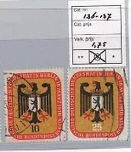 Berlijn-1956-gestempeld-136-137-Bundesrat-in-Berlin
