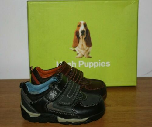 Hush Puppies Boys Eddie Brown or Black Leather Shoes Various Sizes BNIB