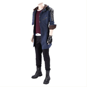 3461b09b790 DmC Devil May Cry V Nero Cosplay Costume Uniform Outfit Hooded ...