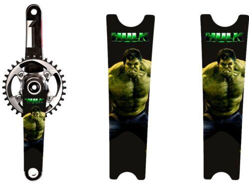 Crank Set Stickers Decals HULK Theme #4 Mountain Bike Bicycle Adhesive 2Pcs