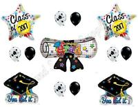 Diploma And Grad Caps Class Of 2017 Graduation Party Balloons Decoration