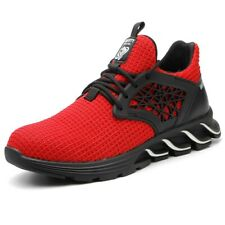 Mens Sports Shoes Indestructible Sneaker Lightweight Steel Toe Work Safety Boots