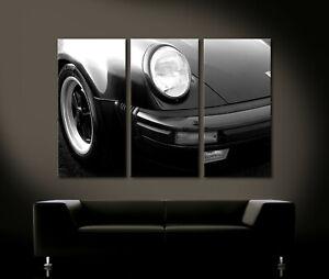 VINTAGE FRONT DETAILS PORSCHE 911 TURBO Leinwand Bild Wandbild Kunstdruck XXL