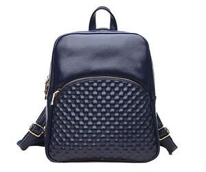 Women-039-s-Embossed-Leather-Handbag-Shoulder-Bag-School-Tote-Purse-Satchel-Backpack