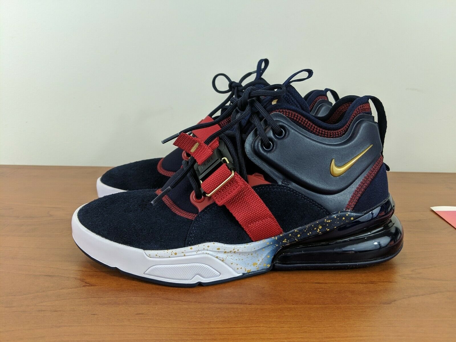 Nike Air Force 270 Olympic Dream Team USA Obsidian gold Max AH6772-400 Sz 7.5