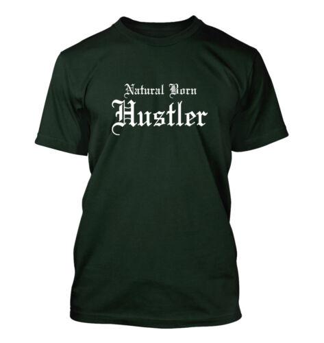 Men/'s T-Shirt Funny Humor Comedy Poker Player Natural Born Hustler #253