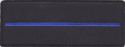 Thin Blue Line Drapeau Iron On Patch Police SWAT Law Enforcement Justice