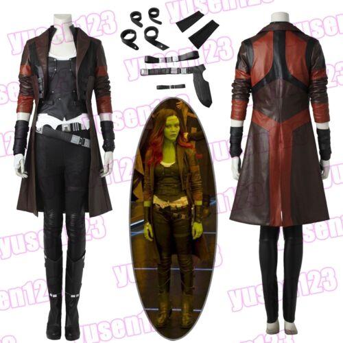 Guardians of the Galaxy 2 Gamora Cosplay Costume Halloween Fancy Dress Full Set
