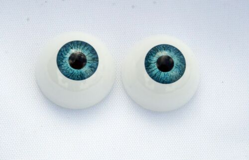 Doll eyes acrylic eyes 22 mm 1 pair blue bjd msd crafts reborn