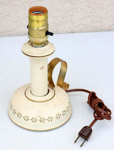 Vintage-Lamp-Metal-Candlestick-Design-western-Tole-decorative-base-beautiful