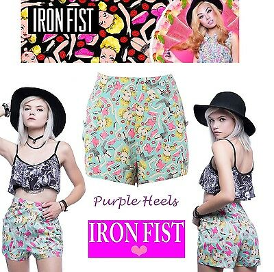 Iron Fist Doll Parts Blue Vintage 50s Sailor Shorts XS-XL / UK 6-14