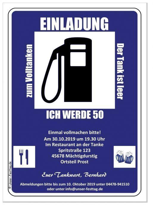 Diverdeenti cartolina invito invito invito stazione di servizio COMPLEANNO 30 40 50 di ogni età-desiderio di testo 2d6d94