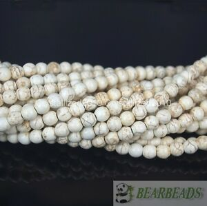 White-Howlite-Turquoise-Gemstone-Round-Beads-2mm-3mm-4mm-6mm-8mm-10mm-12mm-15-034