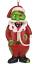Tree-Buddees-Zombie-Santa-Claus-Christmas-Glass-Ornament-Funny-Xmas-Decoration thumbnail 3