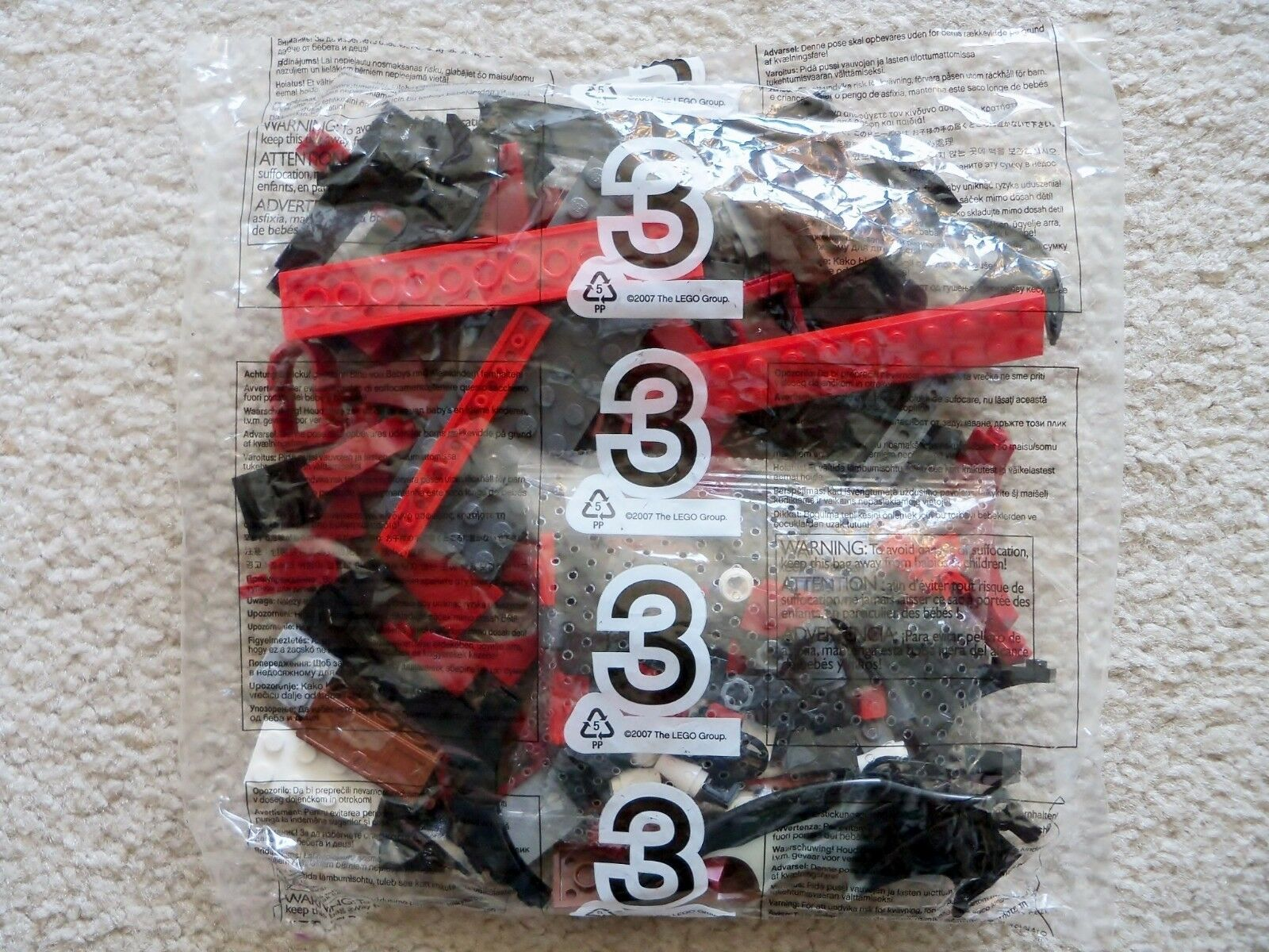 Lego Schloss Phantasie Era - Selten - Skelett Stiefelbau Angriff 7029 - Tüte  3