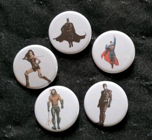 "1.25/"" DC Justice League Pinback Buttons Set of 5 #64"