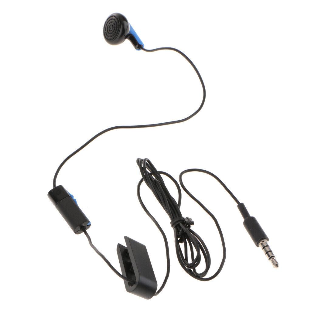 Portable 3.5mm Mono Earphone 1.2m Length Earplug Headphone for Sony PS4