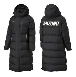 Mizuno Hood Details Black Duck Bench Zu Long Gym 32ye865009 Jacket Coat Padded Winter Parka Y7gvbf6y