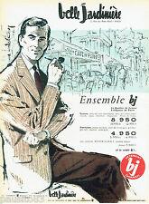 PUBLICITE ADVERTISING 125  1959  Belle Jardinière  vetements homme café de Flore