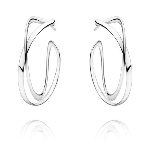 INFINITY Georg Jensen Silver Ear Hoops # 452 Large